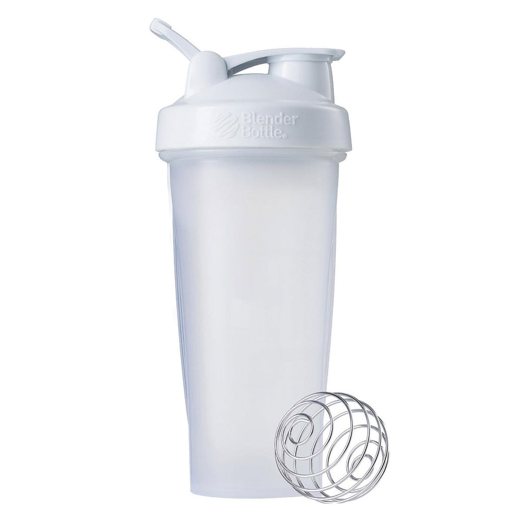 BlenderBottle Clear/White Classic Bottle 28oz