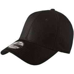 New Era 39THIRTY Black Structured Stretch Cotton Cap 3eefab0da30