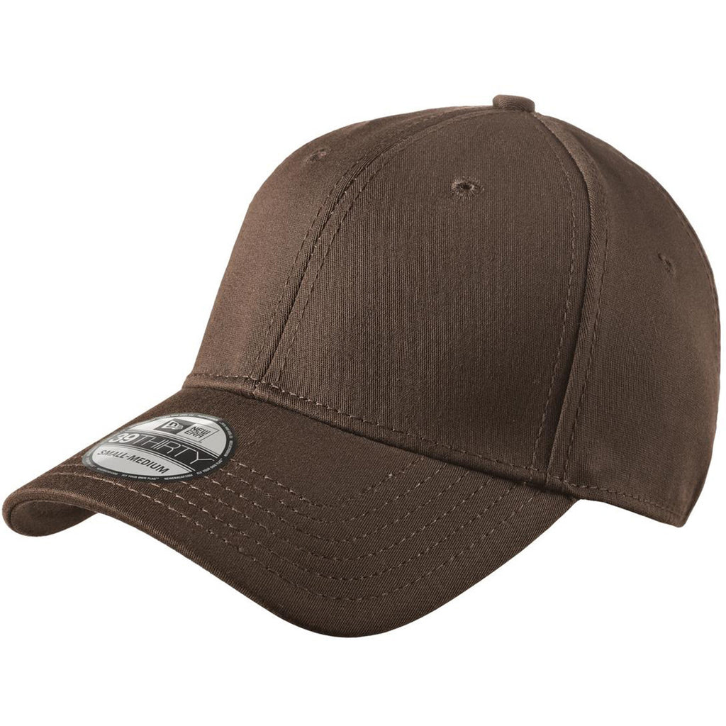 New Era 39THIRTY Brown Structured Stretch Cotton Cap c5771e90b2e1