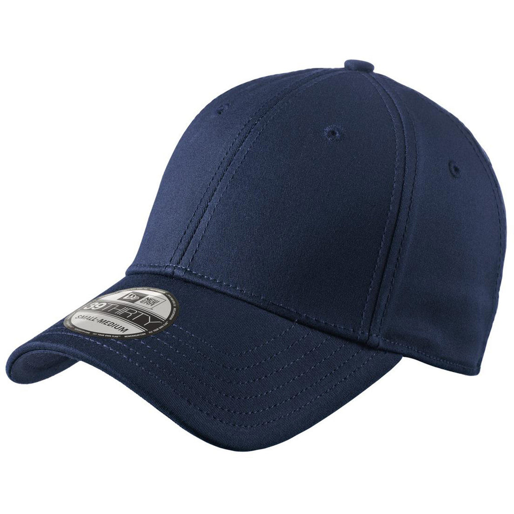 New Era 39THIRTY Deep Navy Structured Stretch Cotton Cap. ADD YOUR LOGO 4b52059beff0