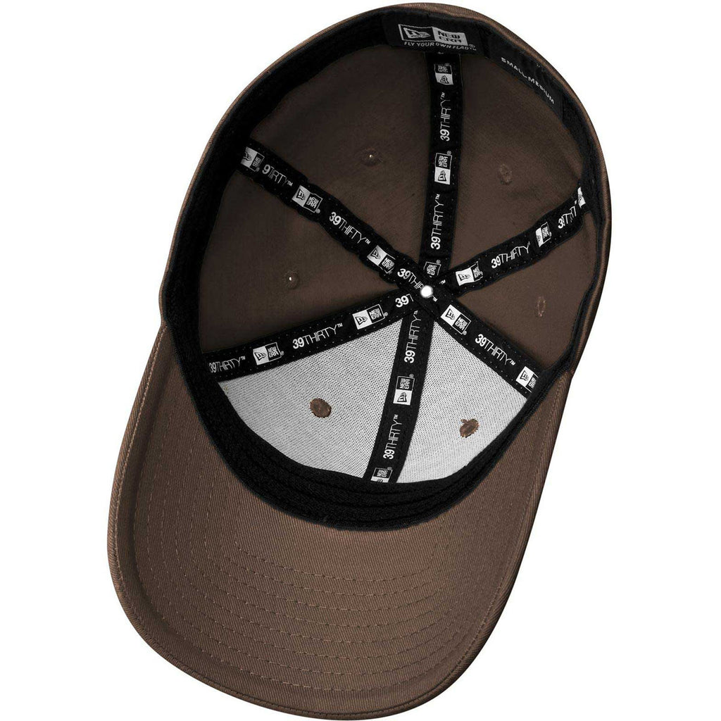New Era Brown Structured Stretch Cotton Cap