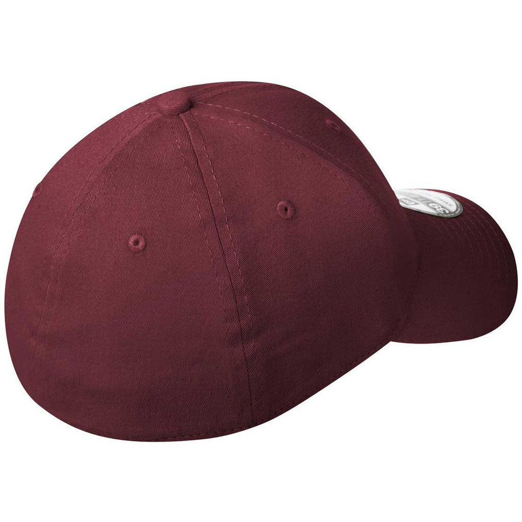 New Era Maroon Structured Stretch Cotton Cap