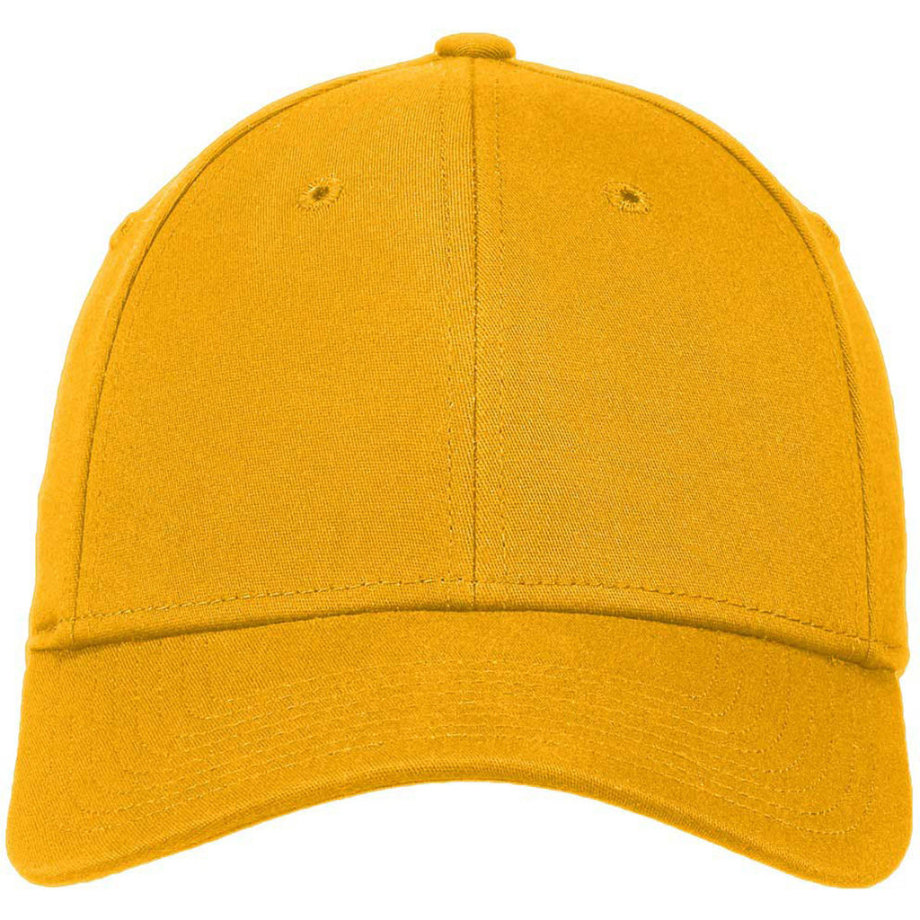New Era Gold Structured Stretch Cotton Cap