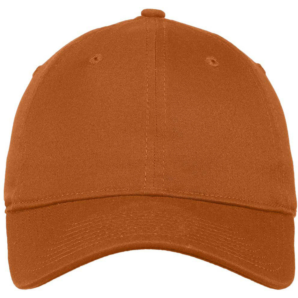 New Era Burnt Orange Unstructured Stretch Cotton Cap