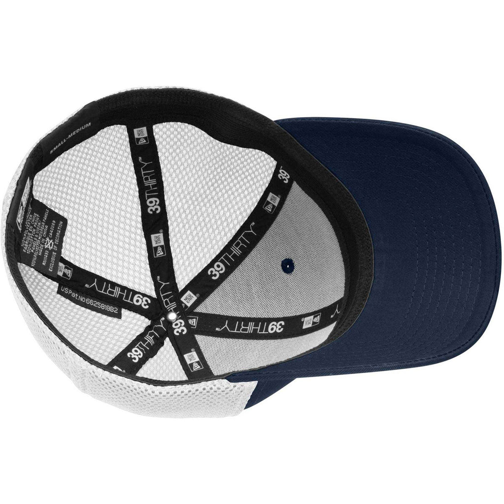 New Era 39THIRTY Deep Navy/White Stretch Mesh Cap