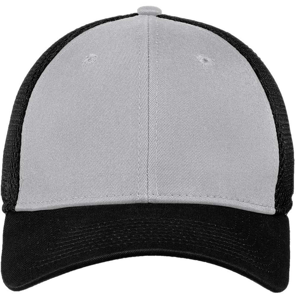 New Era 39THIRTY Grey/Black Stretch Mesh Cap