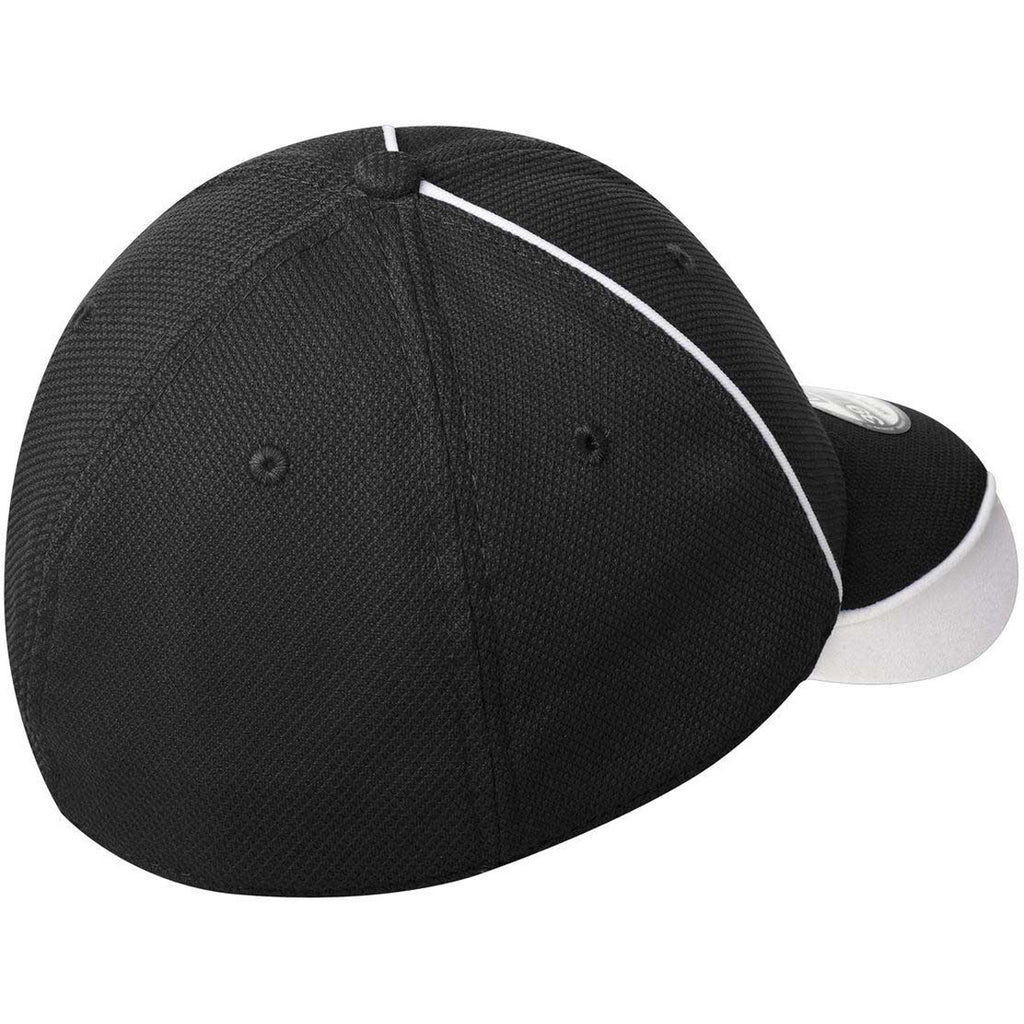 New Era Black/White Contrast Piped BP Performance Cap