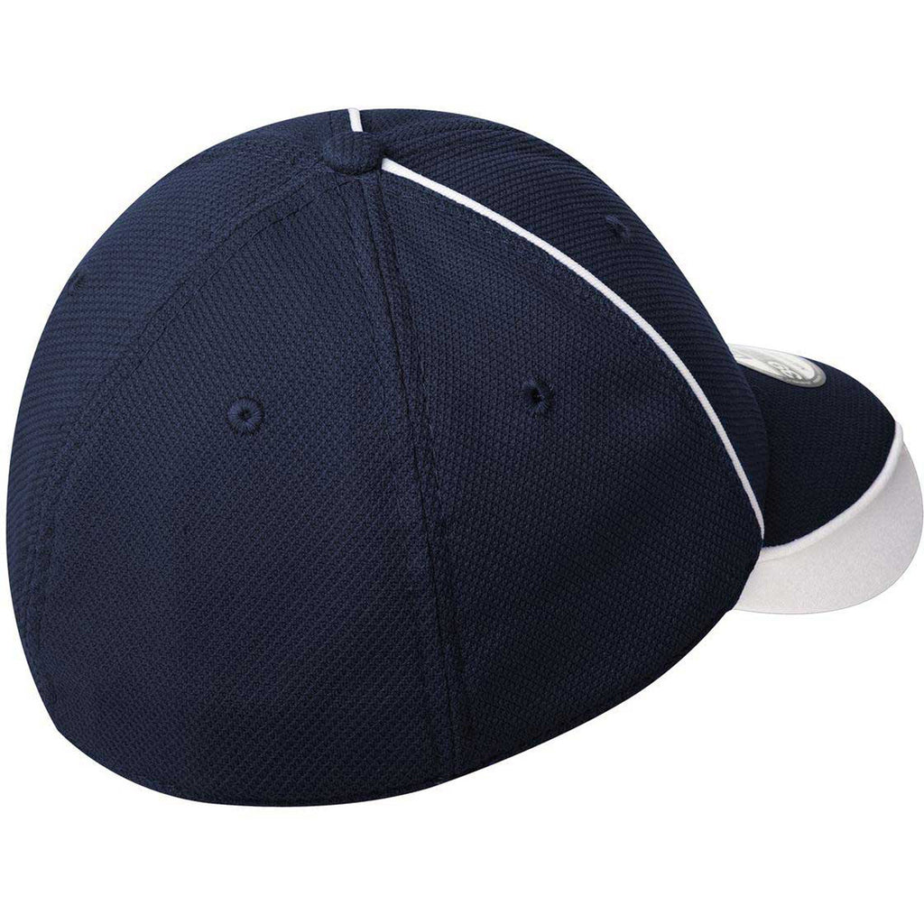 New Era Deep Navy/White Contrast Piped BP Performance Cap