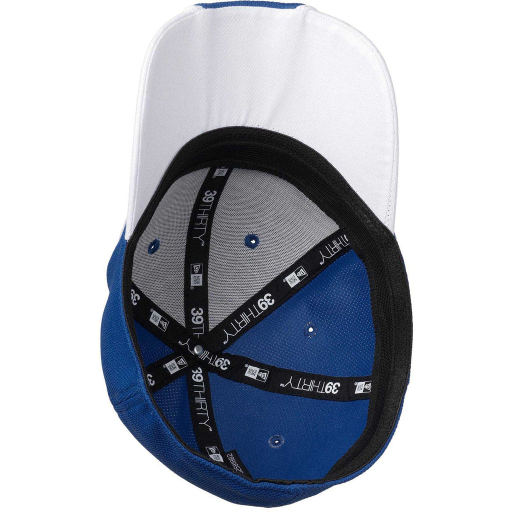 New Era 39THIRTY Royal/White Contrast Piped BP Performance Cap