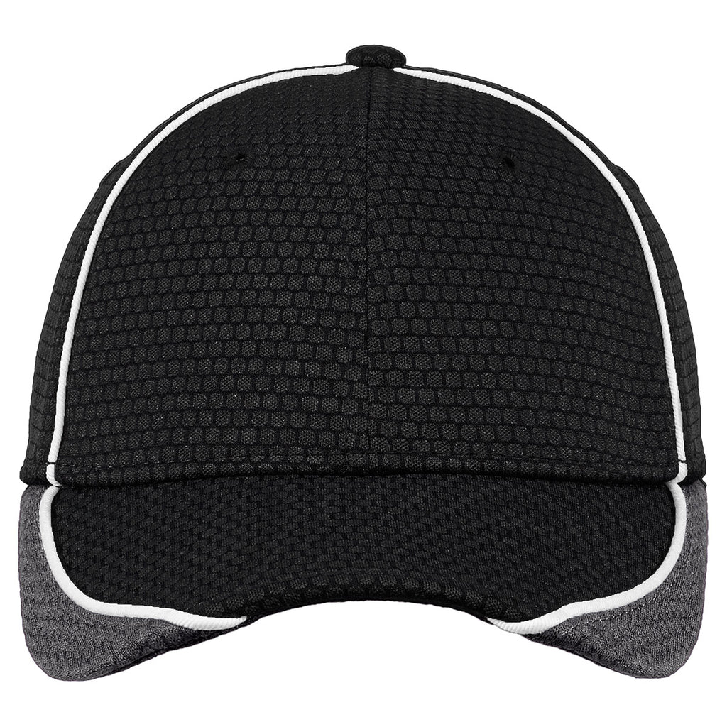 New Era Black/Graphite/White Hex Mesh Cap