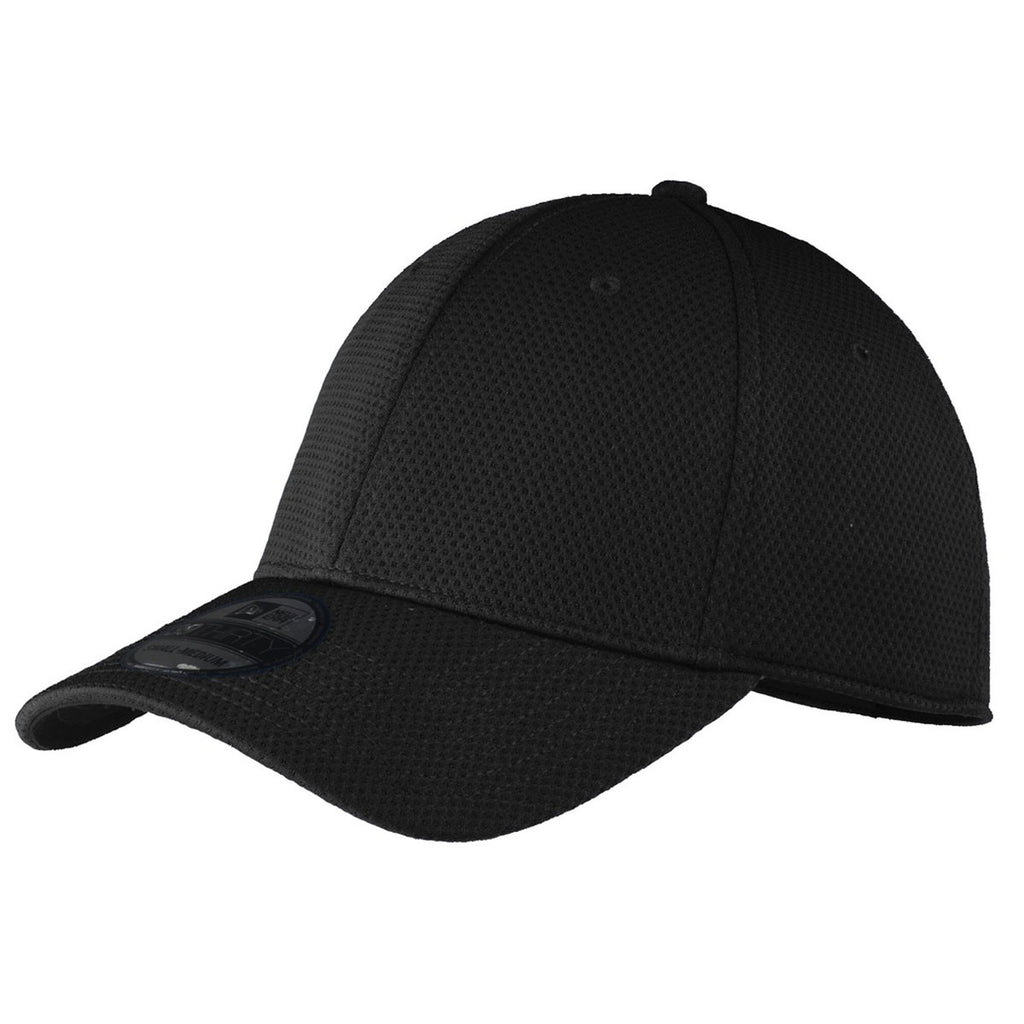 New Era 39THIRTY Tech Black Mesh Cap. ADD YOUR LOGO 56356ac72dd