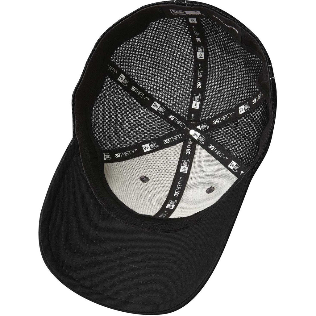 New Era 39THIRTY Black/White Stretch Mesh Contrast Stitch Cap