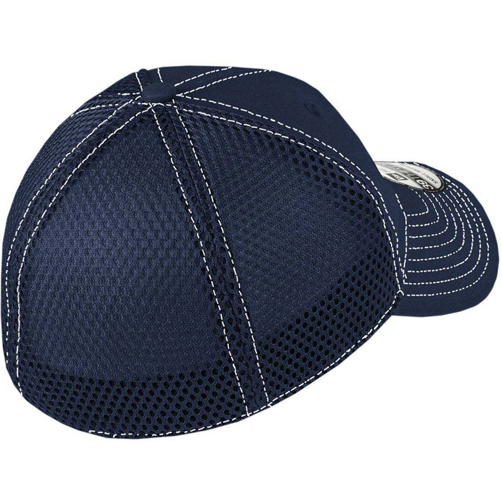 New Era Deep Navy/White Stretch Mesh Contrast Stitch Cap