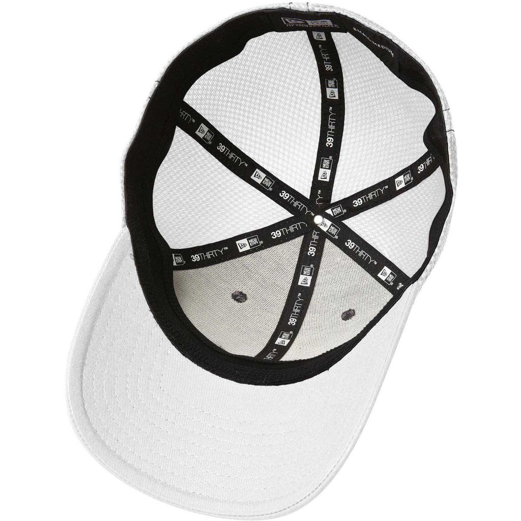 New Era 39THIRTY White Black Stretch Mesh Contrast Stitch Cap e3df13da1d55