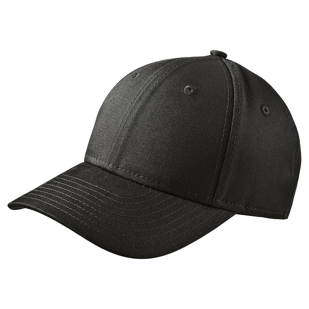 New Era Black Adjustable Structured Cap. ADD YOUR LOGO 20ce314864d