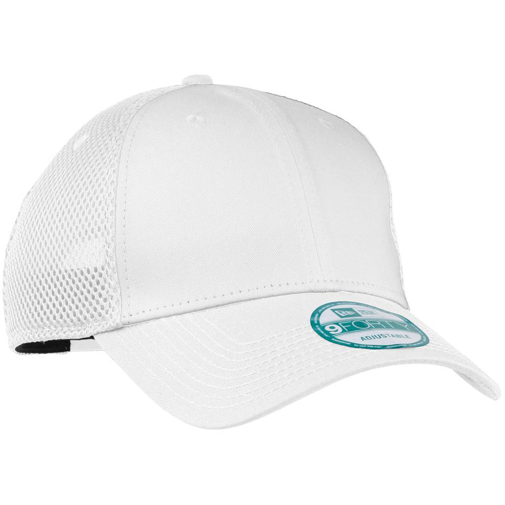 120e8564f577e New Era 9FORTY White Snapback Contrast Front Mesh Cap. ADD YOUR LOGO