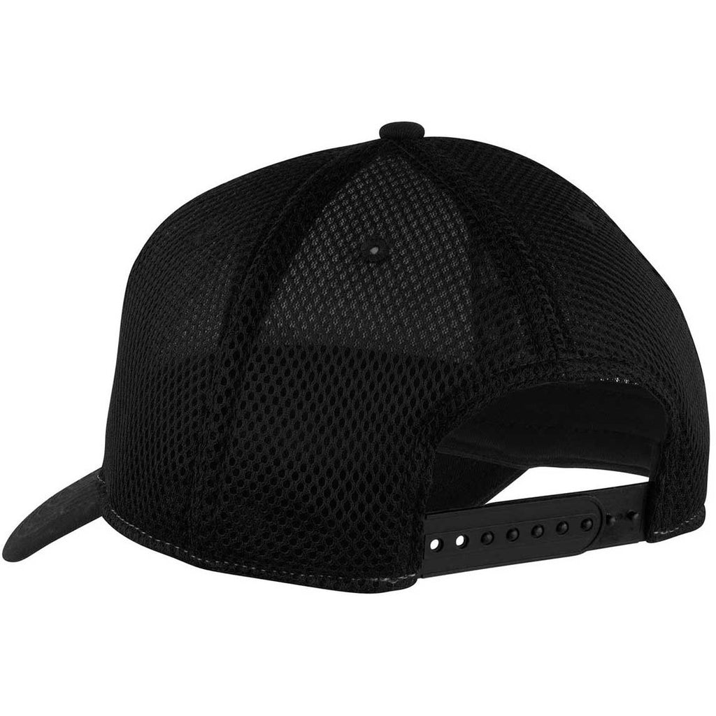 New Era 9FORTY Charcoal/Black Snapback Contrast Front Mesh Cap