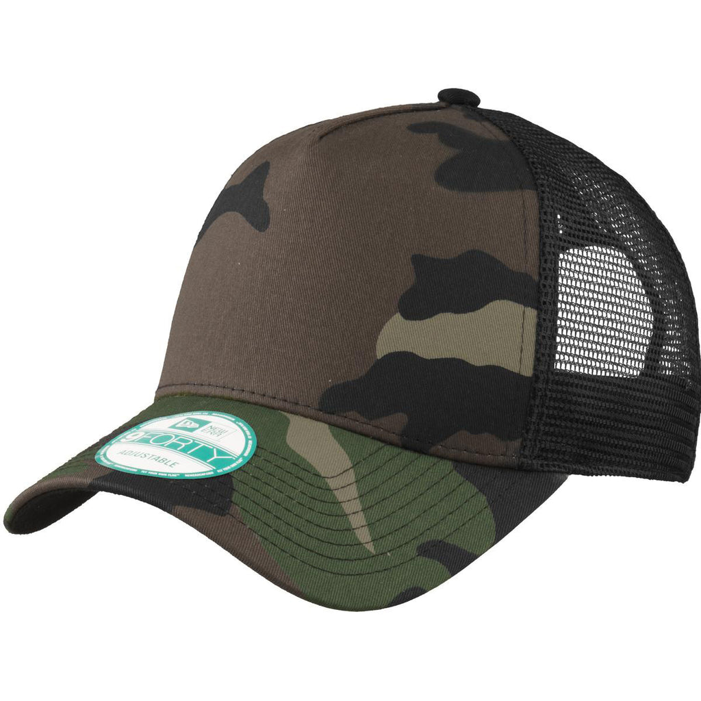 ... italy new era camo black snapback mesh back trucker cap. add your logo  0da85 c3efa 2a3e252fbbd6