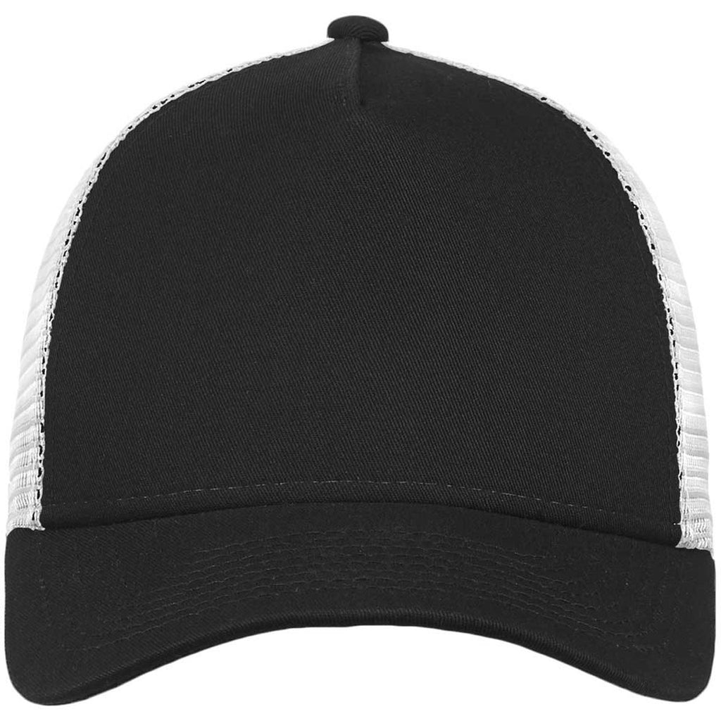 New Era Black White Snapback Mesh Back Trucker Cap 756c06146dd