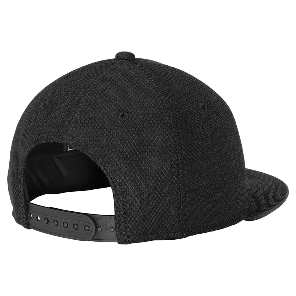 New Era Youth Black Original Fit Diamond Era Flat Bill Snapback Cap 5590e756cab