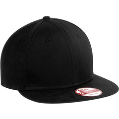 New Era 9FIFTY Black Flat Bill Snapback Cap 3d6b9d97492
