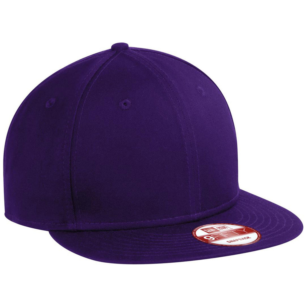 New Era 9FIFTY Purple Flat Bill Snapback Cap. ADD YOUR LOGO 80c9a4b669d