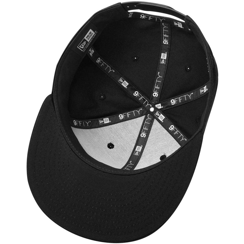 New Era Black Flat Bill Snapback Cap
