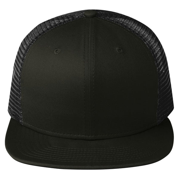 New Era Black Original Fit Snapback Trucker Cap