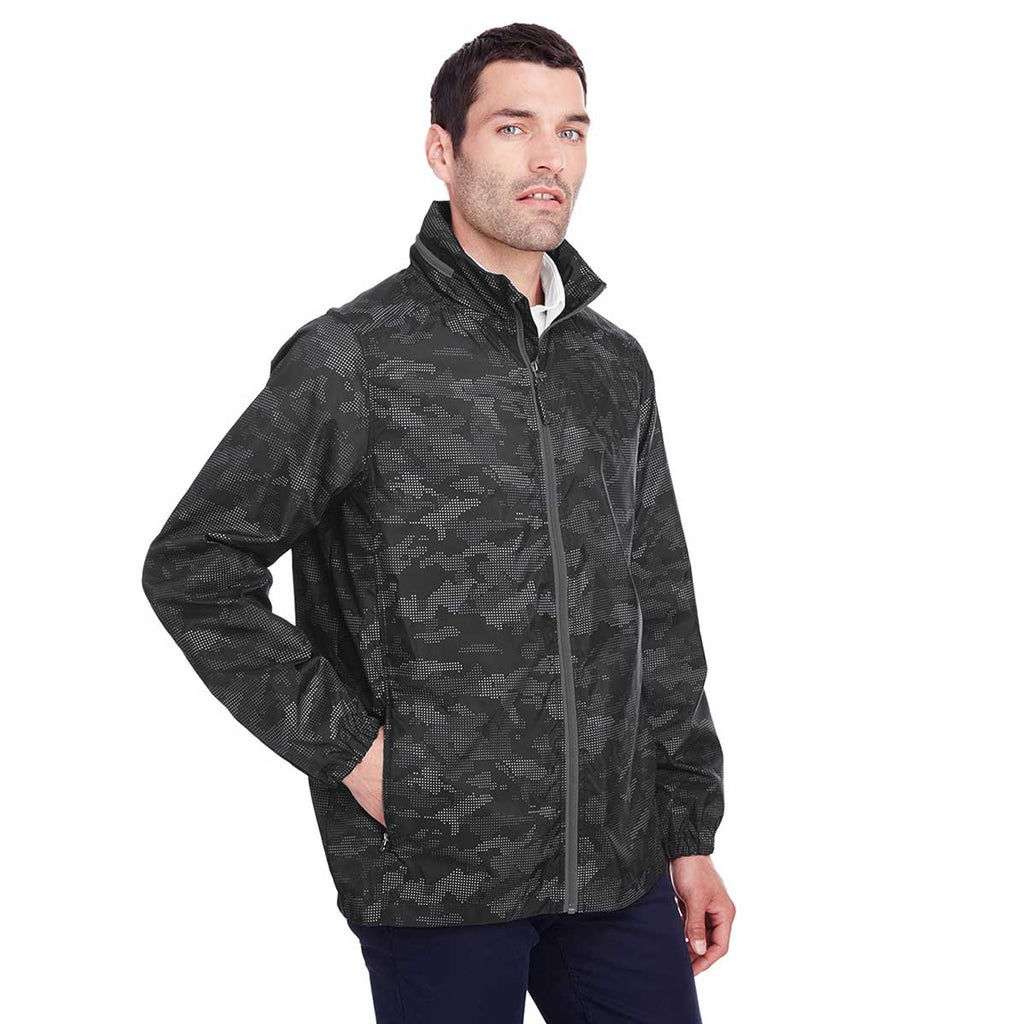 North End Men's Black/Carbon Rotate Reflective Jacket