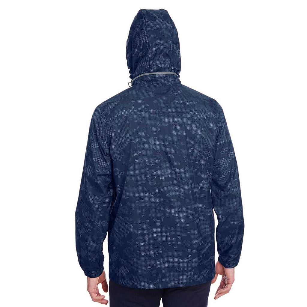 North End Men's Classic Navy/Carbon Rotate Reflective Jacket