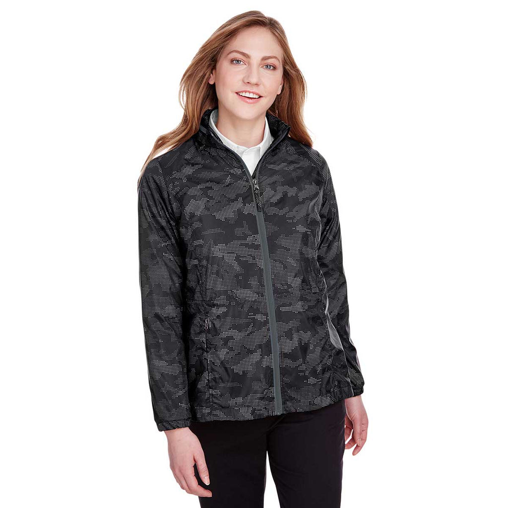 North End Women's Black/Carbon Rotate Reflective Jacket