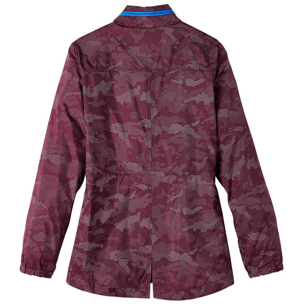 North End Women's Burgundy/Olympic Blue Rotate Reflective Jacket