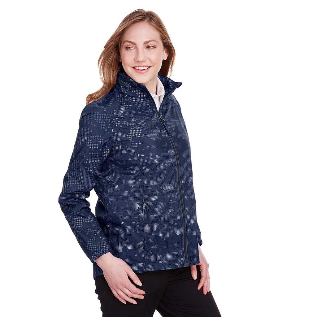 North End Women's Classic Navy/Carbon Rotate Reflective Jacket