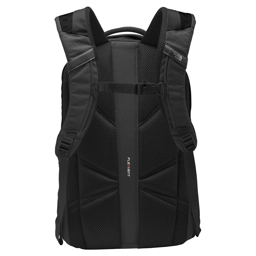 The North Face TNF Dark Grey Heather/Cardinal Red Groundwork Backpack