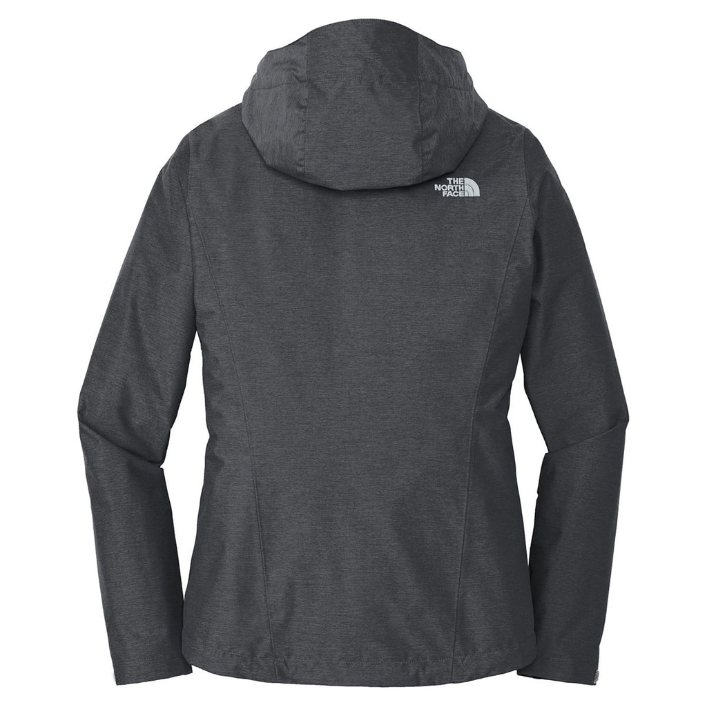 The North Face Women's Dark Grey Heather Dryvent Rain Jacket