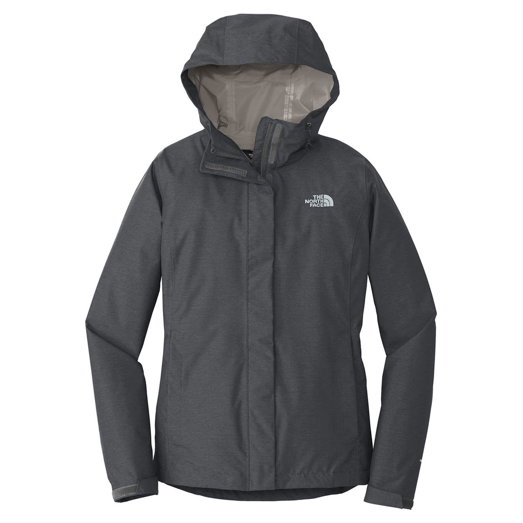 74d4e76adf93 The North Face Women s Dark Grey Heather Dryvent Rain Jacket. ADD YOUR LOGO