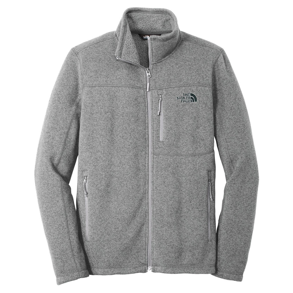 cca789f63 The North Face Men's Medium Grey Heather Sweater Fleece Jacket