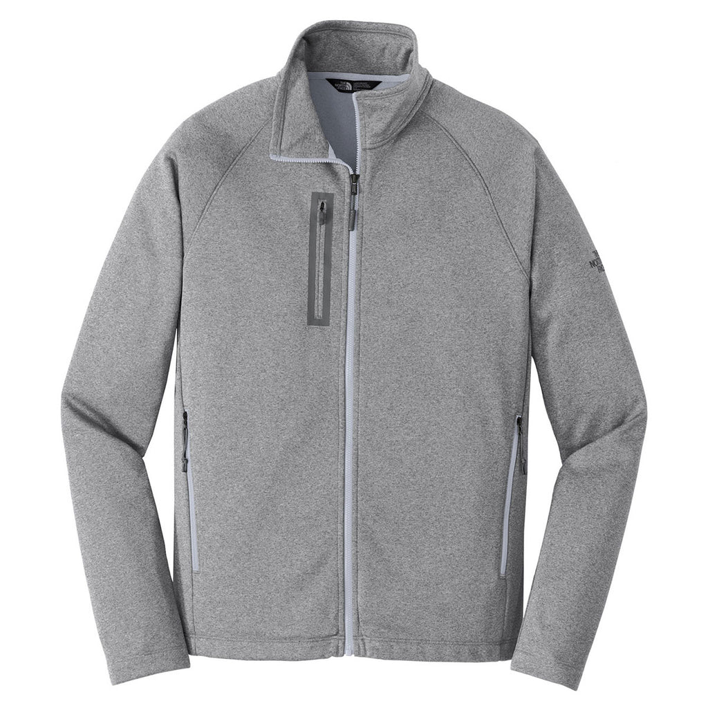 9338a29cdd43 The North Face Men s Medium Grey Heather Canyon Flats Fleece Jacket. ADD  YOUR LOGO