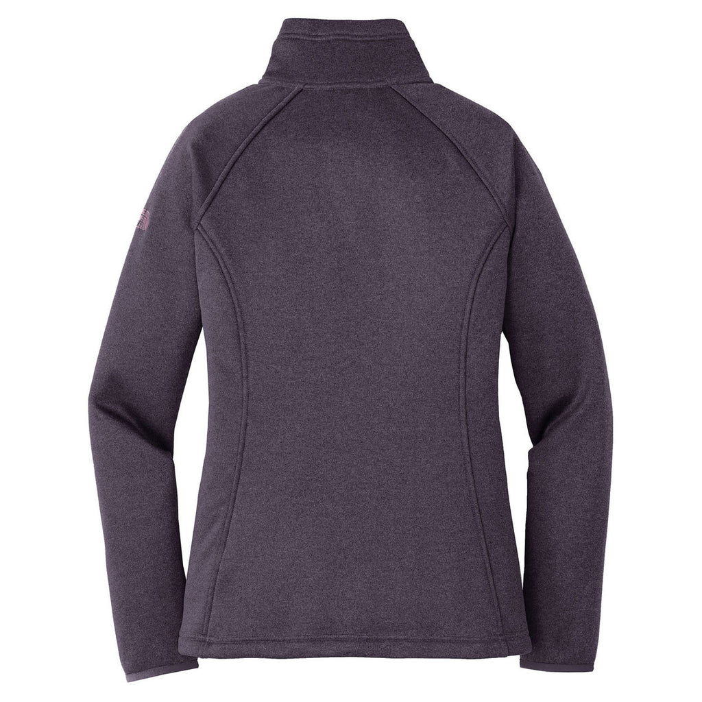 The North Face Women's Dark Eggplant Purple Heather Canyon Flats Stretch Fleece Jacket