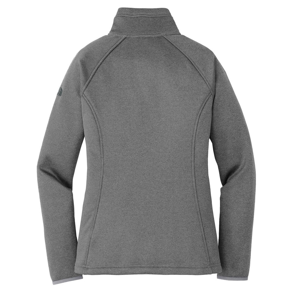 The North Face Women's Medium Grey Heather Canyon Flats Stretch Fleece Jacket