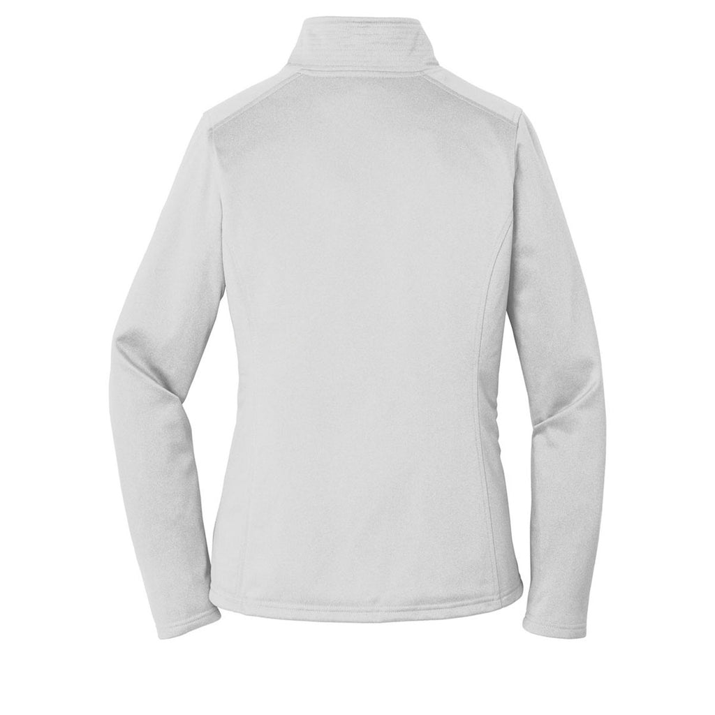 The North Face Women's Light Grey Heather Tech Quarter Zip Fleece