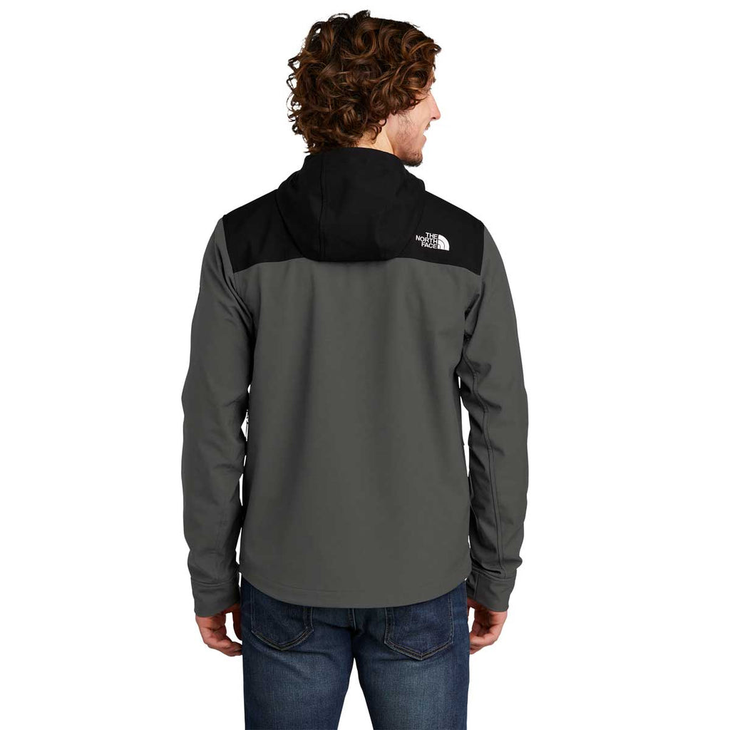 The North Face Men's Asphalt Grey Castle Rock Hooded Soft Shell Jacket