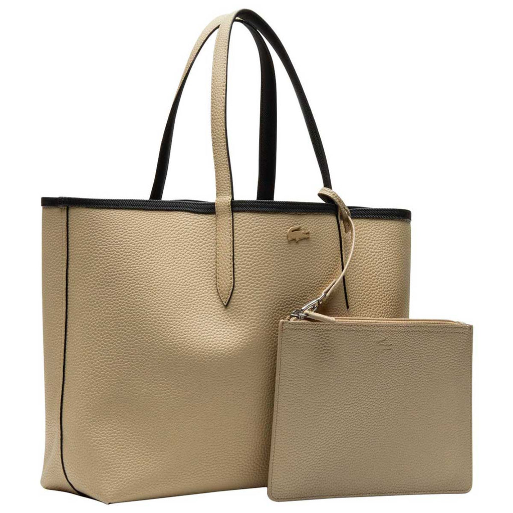 Lacoste Women's Black/Warm Sand Anna Reversible Tote Bag