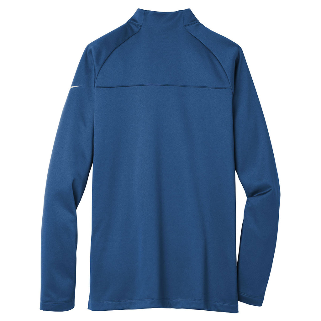 Nike Men's Gym Blue/Gym Blue Therma-FIT 1/2-Zip Fleece