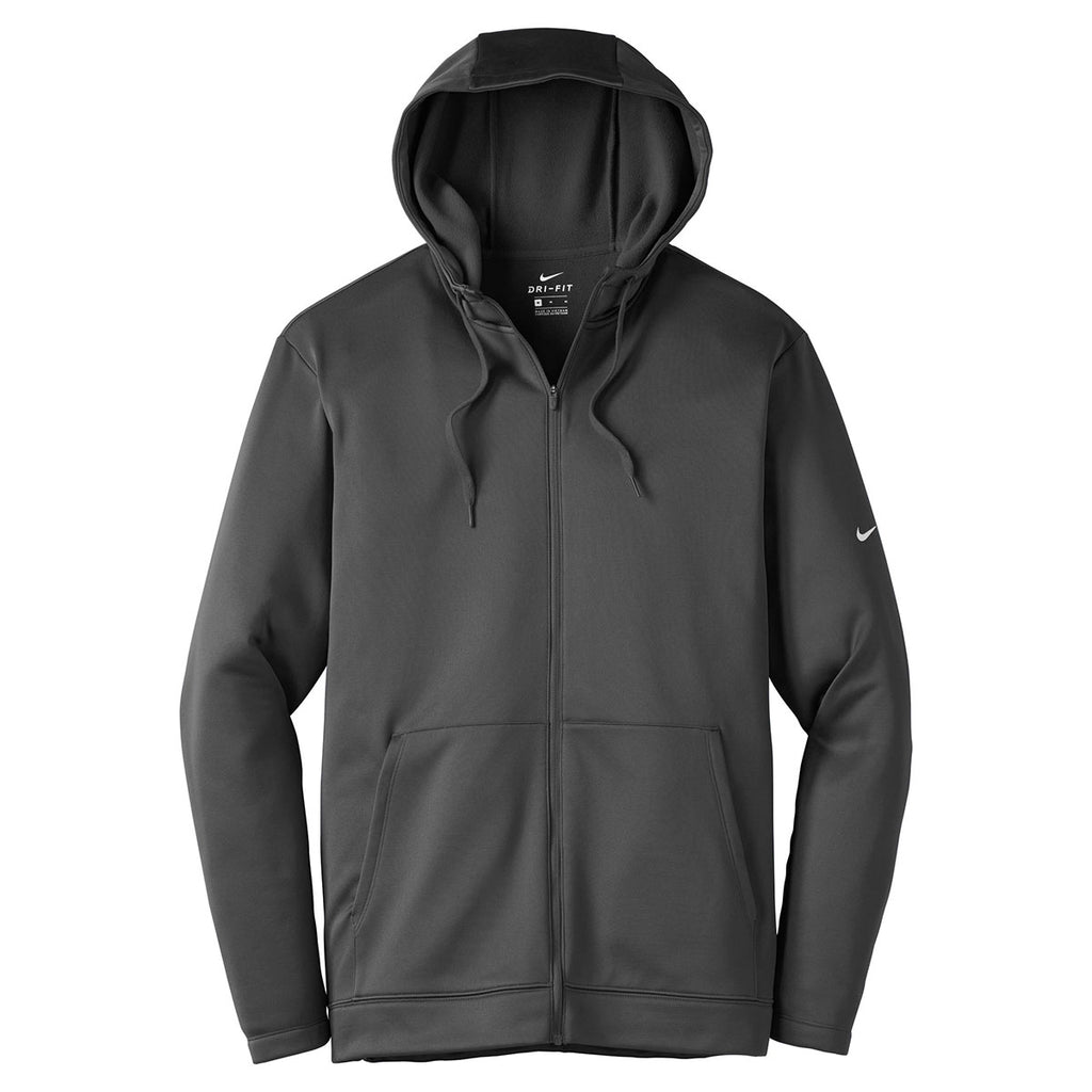 210a0b2ca393 Nike Men s Anthracite Therma-FIT Full-Zip Fleece Hoodie. ADD YOUR LOGO