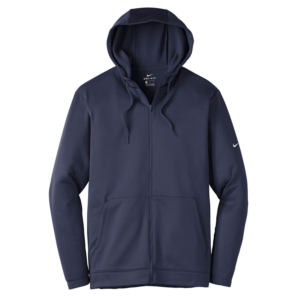 3cf3940f7 Nike Men's Midnight Navy Therma-FIT Full-Zip Fleece Hoodie. ADD YOUR LOGO