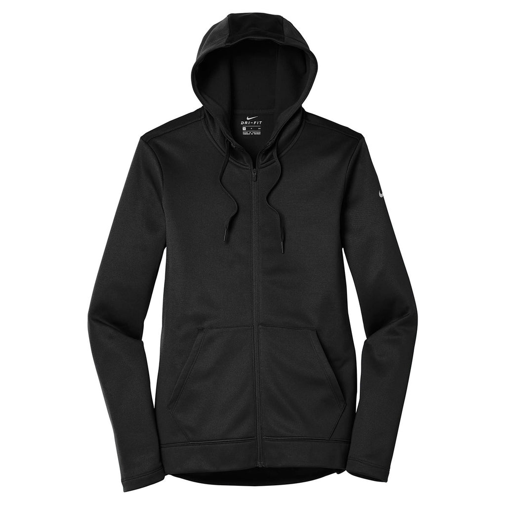 new style 4a0fd a3cbb Nike Women s Black Therma-FIT Full-Zip Fleece Hoodie. ADD YOUR LOGO