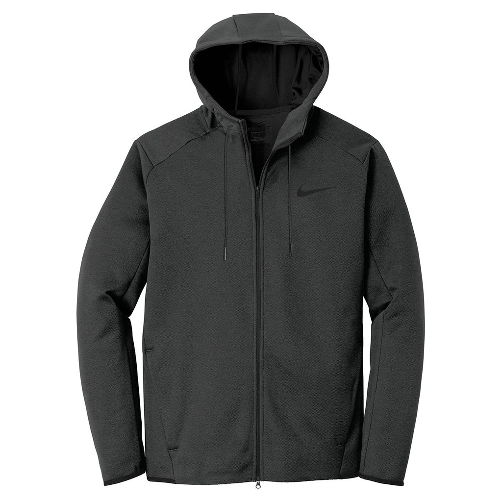 9149673da922 Nike Men s Black Therma-FIT Textured Fleece Full-Zip Hoodie. ADD YOUR LOGO