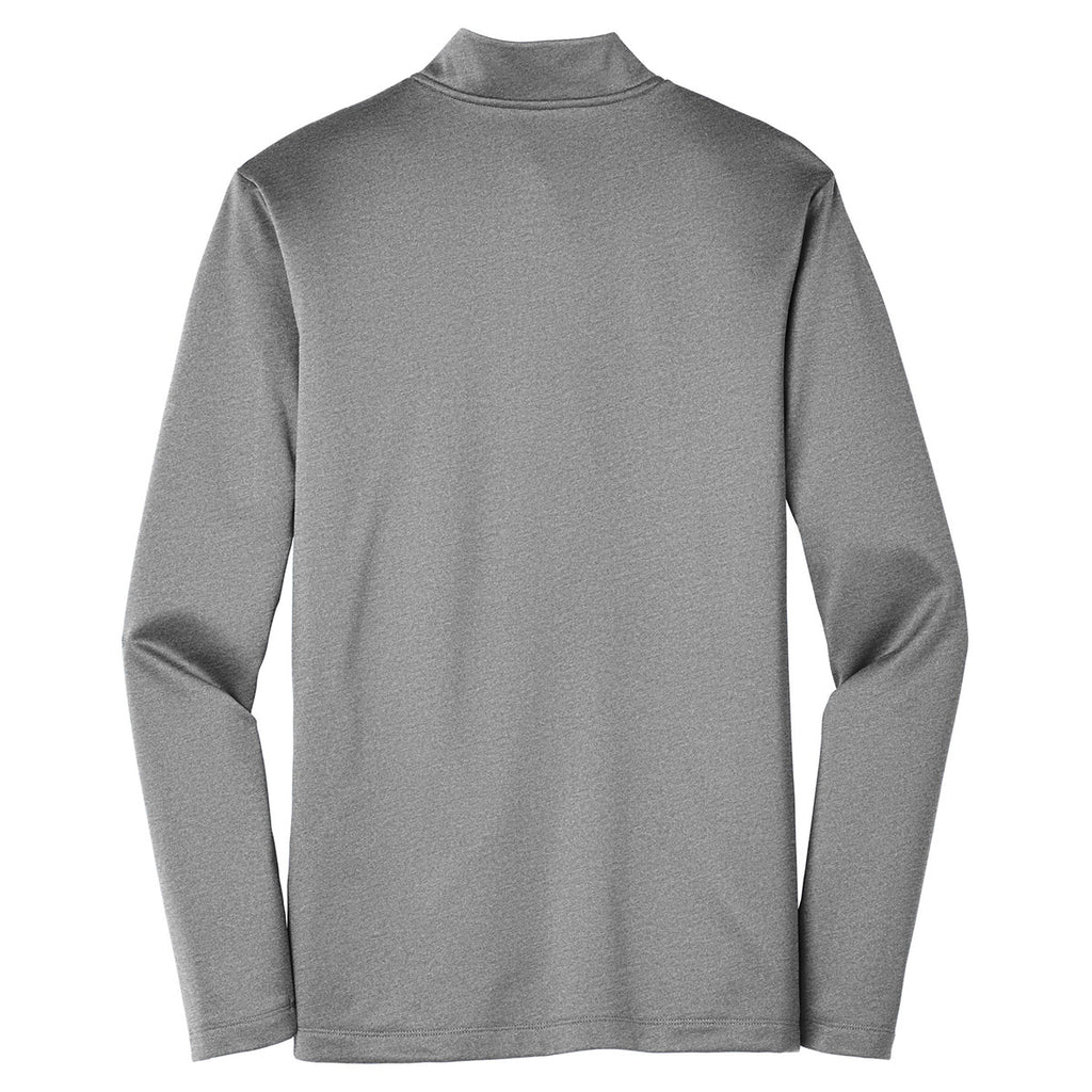 Nike Men's Dark Grey Heather Therma-FIT Full-Zip Fleece