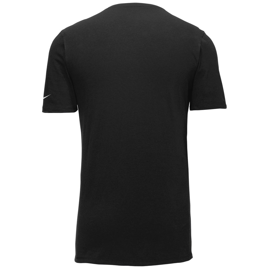 Nike Men's Black Dri-FIT Cotton/Poly Tee